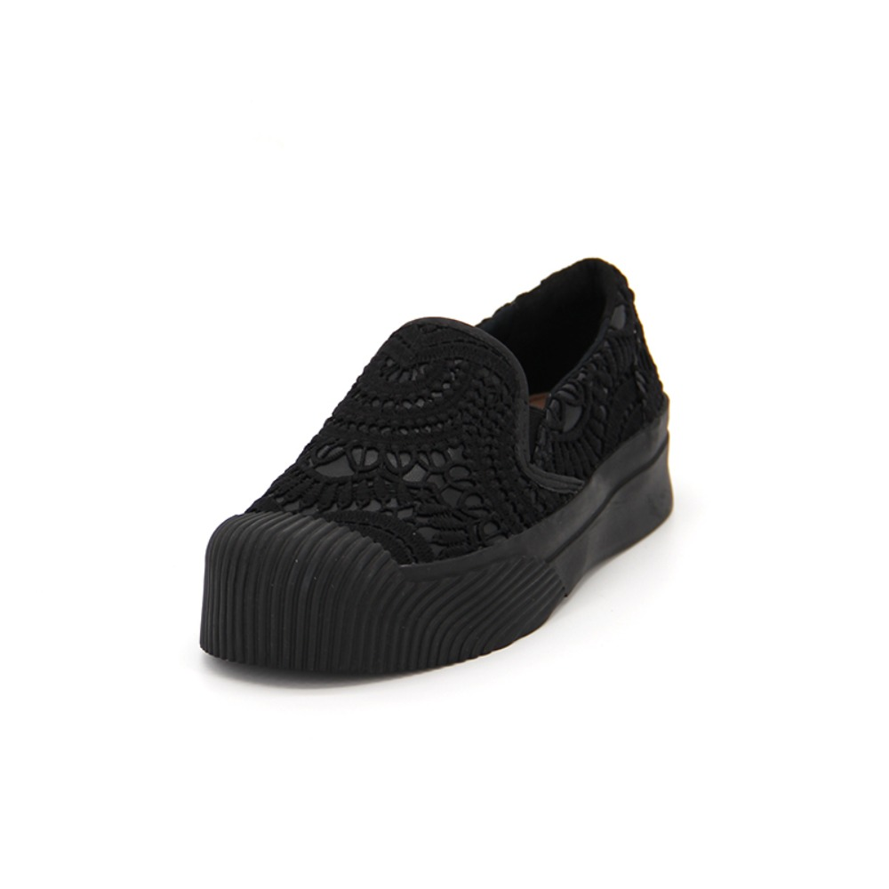 Women's Lace Slip-On 65071W BLACK