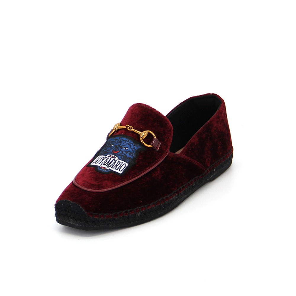 Women's Fabric Espadrille Slip-On 01925W WINE RED