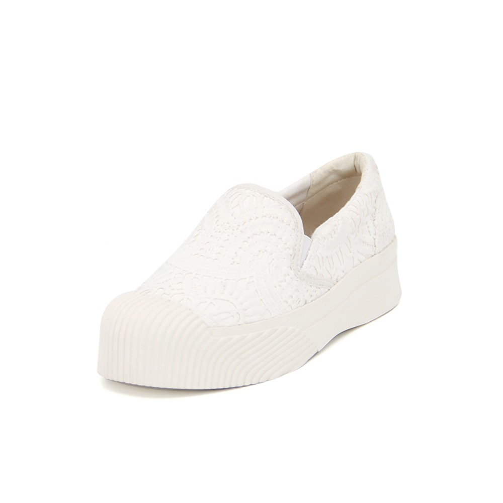 Women's Lace Slip-On 65071W WHITE