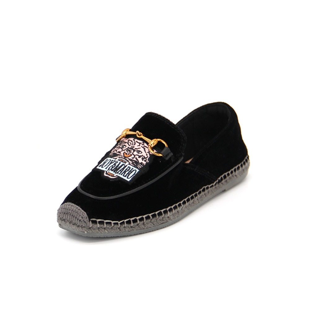 Women's Fabric Espadrille Slip-On 01925W BLACK